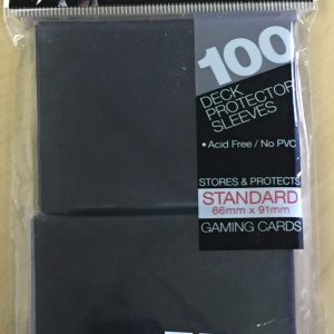 Deck Protector Sleeves-Black