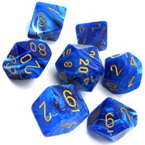Chessex Dice – Vortex Blue/Gold